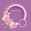 Vector background with pink spring flowers — Vektorgrafik