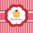 Stock Vector: Cupcake background. Invitation