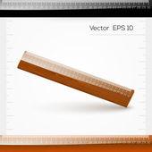 Vektorové pravítko s měřítkem centimetrů — Stock vektor