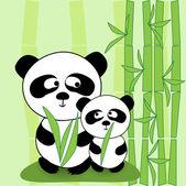 Vector panda — Stock Vector