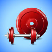 Dumbbell weight. — Stock Vector