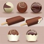Ice cream pack — Stock Vector