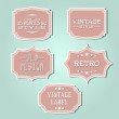 Vector collection - vintage and retro labels — Stock Vector