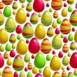 Vector background with easter eggs — Stock Vector
