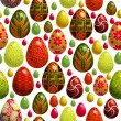 Vector background with easter eggs — Stock Vector #19944799