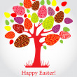 Vector easter tree with eggs — Imagen vectorial