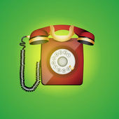 Old phone — Stock Vector