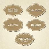 Wektor zbiory - vintage i retro etykiety — Wektor stockowy