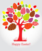 Vector easter tree with eggs — Stock Vector