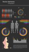 Wektor infografiki na czarnym tle — Wektor stockowy