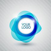 あなたのロゴ抽象的な光沢のある円 — ストックベクタ