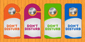 Hotel do not disturb door hanger — Stock Vector
