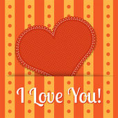 Vector Valentine background with red heart. — Stock Vector