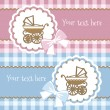 Baby announcement card. — Vettoriali Stock
