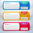 Vector web banner set — Vector de stock #20136905