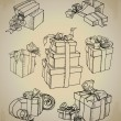 Set of vector gift boxes — Stock Vector #20138989