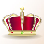 Gold royal crown — Vector de stock