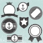Set of retro vintage badge icons — Stock Vector
