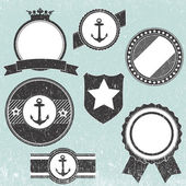 Set of retro vintage badge icons — Stock Vector