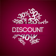 Background with percent discount. — Stockvektor