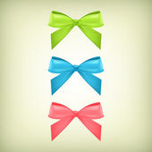 Vector set of colorful bows — Vector de stock