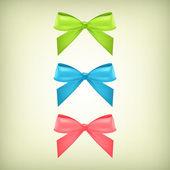 向量组的彩色蝴蝶结 — 图库矢量图片