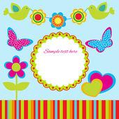 Design del telaio primavera carino. — Vettoriale Stock