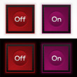 Web on and off buttons  — Stock Vector