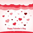 Vector valentine's background with hearts  — Stock Vector