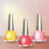 Set of color nail polish — Stock Vector