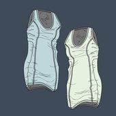 Vector illustration of women's t-shirts. — Stock Vector