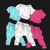 Women's clothing. — Stock Vector