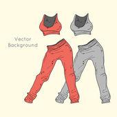 Women's sport clothing. — Stock Vector