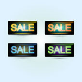 Sale banners. Vector illustration. — Stock Vector