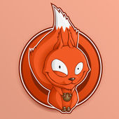 écureuil de dessin animé tenant la noix. — Vecteur
