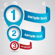 Royalty-Free Stock Vector Image: Numbered banners.