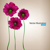 Background with pink flowers. — Stock Vector