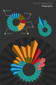 Set of infographic vector elements — Vector de stock