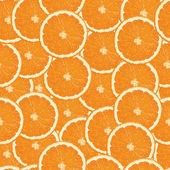 Seamless orange slices background — Vector de stock