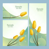 Set of banners with spring flowers — Stock Vector
