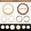 Vector set of wooden buttons — Stock Vector