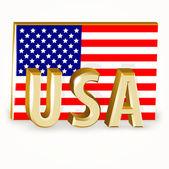 Bandiera degli stati uniti — Vettoriale Stock