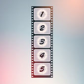 Film countdown. Vector. — Stock Vector