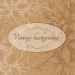 Vintage floral background. — Stock Vector