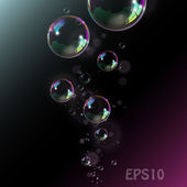 Soap bubbles. — Stockvektor