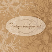 Vintage floral background. — Stock Vector