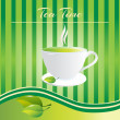 Tea time - Cup of tea background — Stock Vector