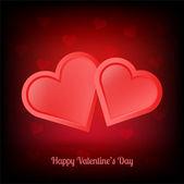 Illustration of pair of valentine heart — Stock Vector