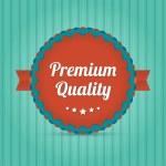 Premium quality - badge symbol — Stock Vector