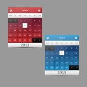Vector calendar illustration — Stock Vector